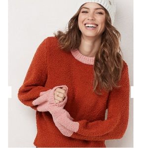LC sweater pullover bicolor balloon sleeves